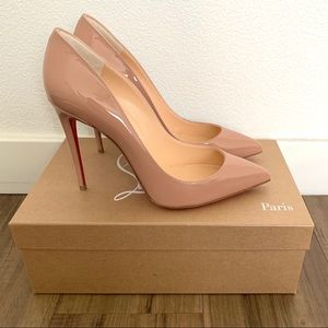 Christian Louboutin Pigalle Follies Size 37.5 Nude